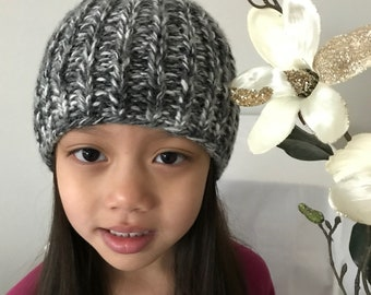 Knitted Cable kid's Winter Hat multi color