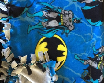 Superhero Double Sided Knot Blanket