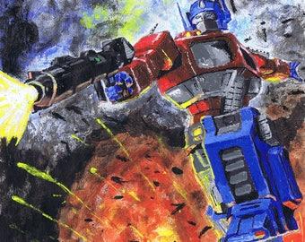 Optimus Prime print