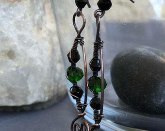 Swarovski Wire Drop Earrings