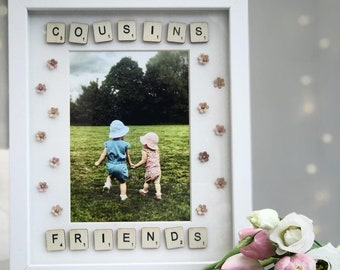 Personalised rectangle scrabble frame