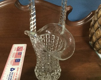 Vintage Imperial Glass Monticello Basket
