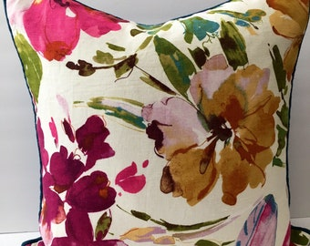 Watercolor Decorator Throw Pillow with Insert