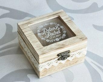 Rustic Wedding Ring Box