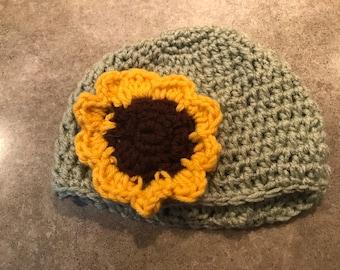 Baby sunflower hat