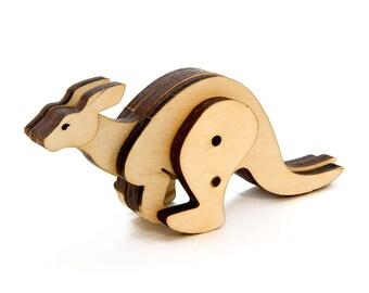 Wooden Kangaroo Toy - Kit