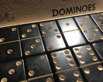 Vintage Bakelite Dominoes 28 full set in box