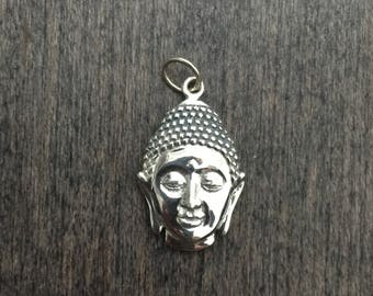 Sterling Silver Buddha Head