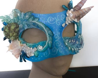 Beyond the Sea-  Fantasy Mermaid Mask