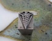 U.S. Army Medical Corps Insignia Antique Metal Letterpress Printing Block
