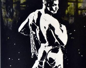 Male Nude #65 Original Acrylic Painting 20x16
