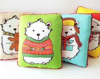 Holiday Hamster Pillow