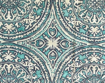 Weighted Blanket - Adult or Child - Aqua Turquoise Boha Mandala - Choose your weight (up to 15 lbs) and minky color - custom