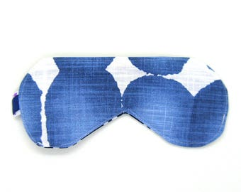 Sleeping Eye Mask / Night Eye Mask / Travel Eye Mask / Sleep Mask - Indigo Blue Watercolor