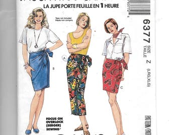 McCall's Misses' Wrap Skirt in Three Lengths Pattern 6377