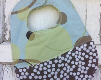 ECLIPSE SALE- Quilted Dot Bib-Wee Ones Bib Collection-Reversible