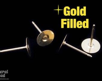 6mm Gold Filled Flat Ear Post #BGA018