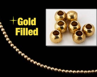 2mm Gold Filled Round Bead #BGA001