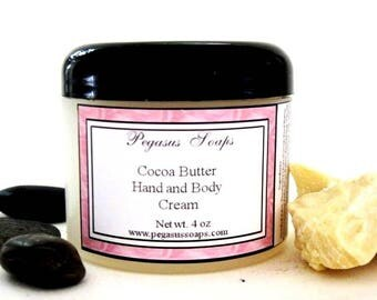 Cocoa  Butter Hand and Body Cream 4 oz You Pick Your Scent Body Butter~Gift ~Handmade~ Lotions~ Body Care~Skin Care