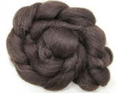 Black Welsh Wool Combed Top Undyed 100g 3.5oz