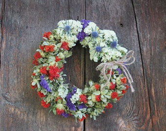 GEORGETTE Dried Flower WREATH    small size decoration
