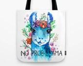 No probllama tote bag Totes llama peru alpaca llama bag llama accessories alpaca art alpaca drawing girlfriend gift gift for best friend