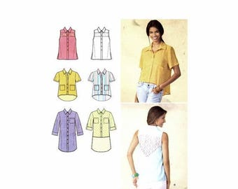 SALE Misses Mini-Dress or Shirt Simplicity 1422 Sewing Pattern Size 6 thru 24 Bust 30 1/2 thru 46 UNCUT