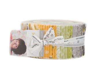 Pepper and Flax Jelly Roll by Corey Yoder for Moda Fabrics, 40 2.5 inch strips