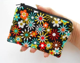 Zipper Pouch Little Padded Coin Purse ECO Friendly NEW Aplenty Flowers
