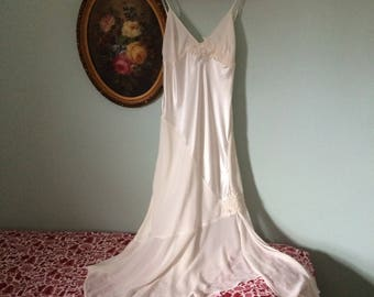 gorgeous vintage fredericks of hollywood fishtail beaded nightgown