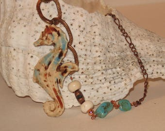 Multimedia Seahorse Necklace