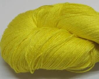 Hand painted Chiku Bamboo yarn, 4 oz, Sunshine