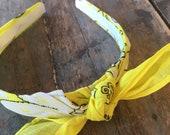 Bandana Knot Headband (NEON YELLOW) Bandanna