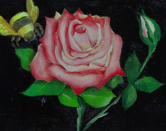 5x7 Original Oil Hybrid Tea Gemini