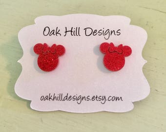 Mrs. Mouse earrings-the famous mouse-happiest place on earth