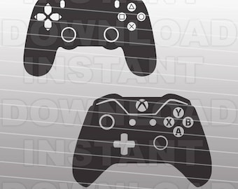 Video Game Controllers SVG File Cutting Template-XBox Playstation Vector Clip Art for Commercial & Personal Use-Cricut,SCAL,Cameo,Decal