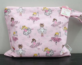 Wet Bag wetbag Diaper Bag ICKY Bag wet proof pink ballerina gym bag swim cloth diaper accessories zipper gift newborn baby kids beach bag