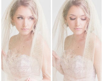 "RESERVED LISTING for mwarty15  Shimmering Gold ""Golden Hour"" Veil Custom Listing in Cathedral length"