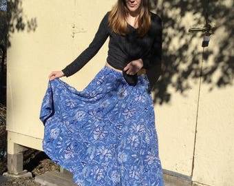 Handmade cotton skirt for all sizes, indian cotton skirt, handmade, womens skirt, plus size skirt, unisex skirt, indian prints