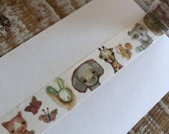Baby Animals - washi tape 25mm