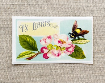 bumblebee bookplates - custom bookplate stickers - ex libris - personalized bookplates - book labels - gift for book lovers - gift under 20