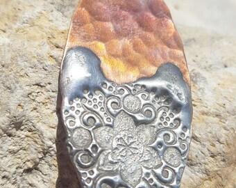 Copper Solder Stamped Pendant #1