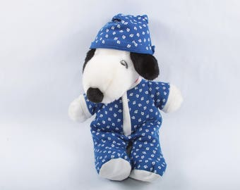 Snoopy, pajamas, United Features Syndicate original product, Soft toy, Plush, Stuffed, vintage, peanuts ~ The Pink Room ~ 170210