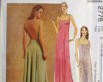 60% OFF SALE Misses Sewing Pattern McCalls 2776 Misses Dress Pattern Evening Gown Pattern Size 14, 16, 18 Uncut