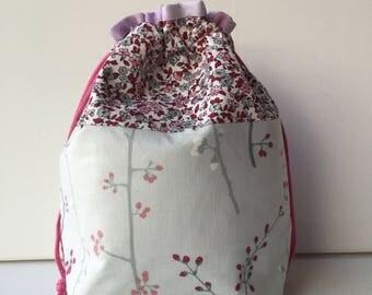 Project Bag - Sock Knitting Bag - Sock Sack - Knitting Project Bag - Crochet Project Bag - Needlepoint Bag - Embroidery Bag - (Small)