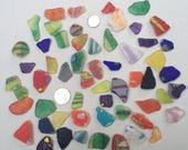 Tumbled Art Glass Sea Glass  Medium Pieces (bag #1)