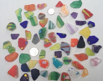 Tumbled Art Glass Sea Glass 1 Medium Pieces