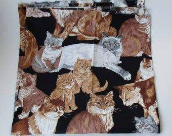 Vintage Cat & Kitten Fabric