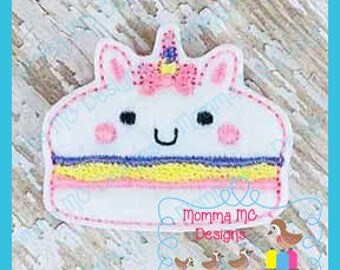 Unicorn Macaroon Feltie Machine Embroidery Digital File