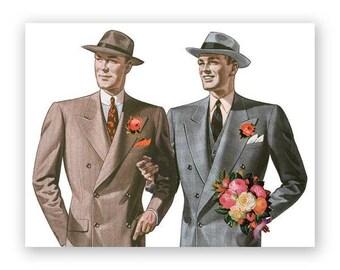 Gay Wedding Congrats Card